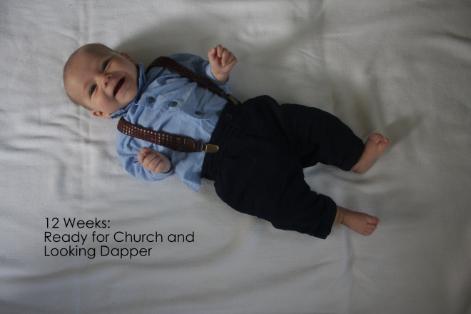 12 weeks ready for church and looking dapper