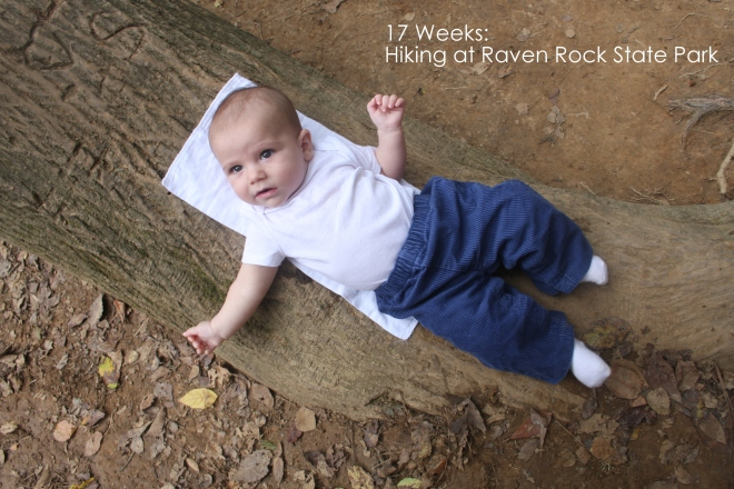 17 weeks hiking at raven rock