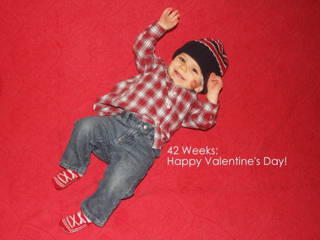 42 weeks happy valentines day