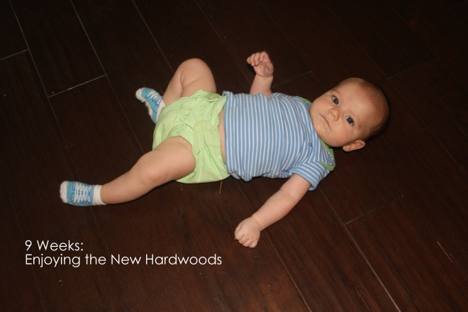 9 weeks enjoying the new hardwoods